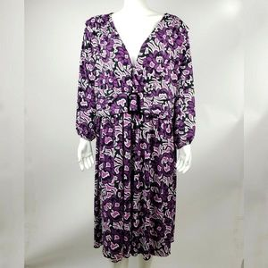 STYLE & CO Purple Floral Dress Size 3X
